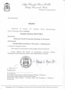 Dekret ks. Janusza